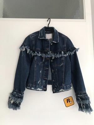 Zara Jeansjacke mit Fransen XS - neuwertig