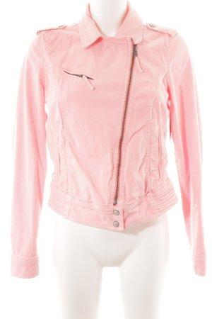 Zara Jeansjacke neonpink-rosa Romantik-Look