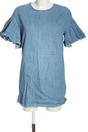 Zara Jeansowa sukienka niebieski W stylu casual