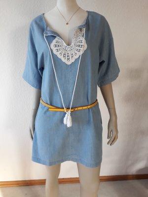 Zara Jeansowa sukienka jasnoniebieski