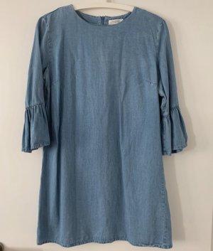 Zara Basic Vestido vaquero azul celeste