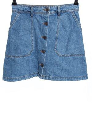 Zara Jeansrock blau meliert Casual-Look