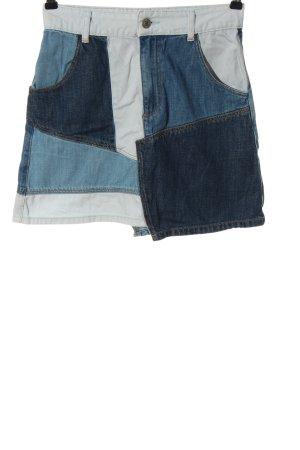 Zara Jeansrock blau-weiß Casual-Look