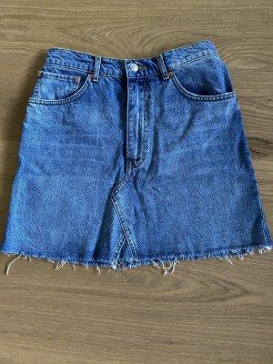 Zara Basic Denim Skirt blue