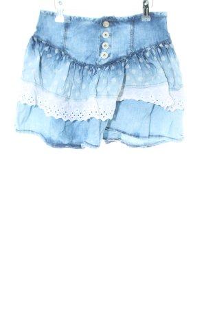 Zara Jeansrock blau-weiß Farbverlauf Casual-Look