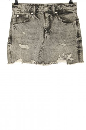 Zara Denim Skirt light grey casual look