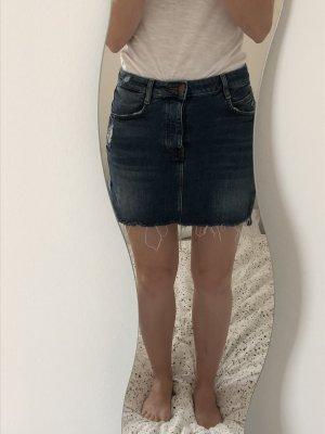 Zara Jupe en jeans bleu-bleu foncé