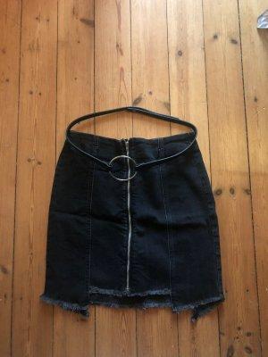 Zara Gonna di jeans nero-grigio