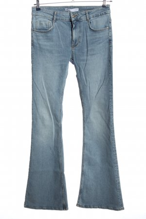 Zara Jeansschlaghose blau Casual-Look