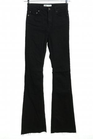 Zara Jeansschlaghose schwarz Casual-Look