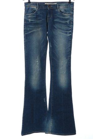 Zara Jeans a zampa d'elefante blu stile casual