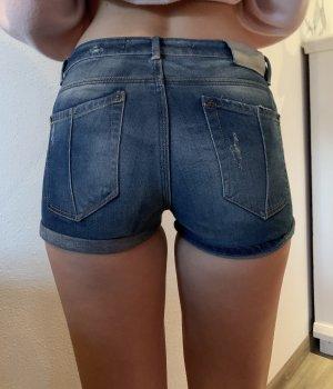 Zara Short en jean bleu