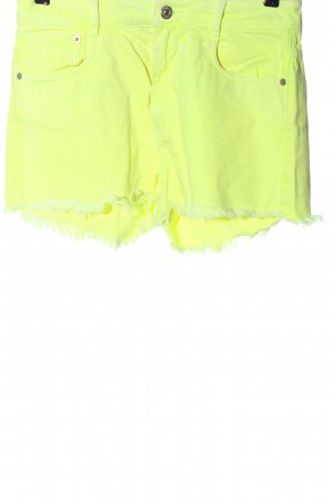 Zara Jeansshorts blassgelb Casual-Look