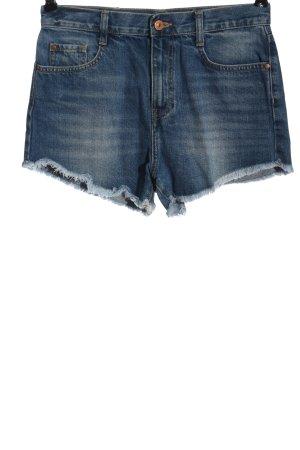 Zara Jeansowe szorty niebieski W stylu casual