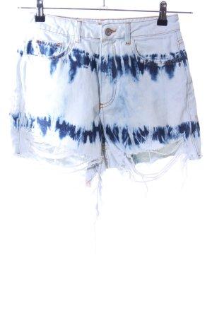 Zara Jeansshorts blau Farbverlauf Casual-Look