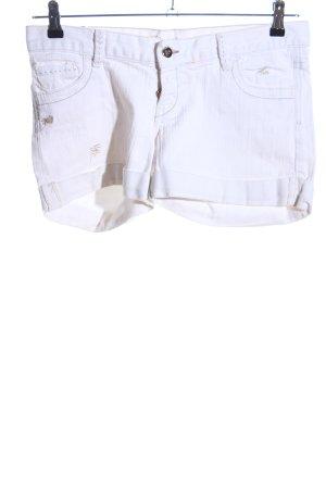 Zara Spijkershort wit casual uitstraling
