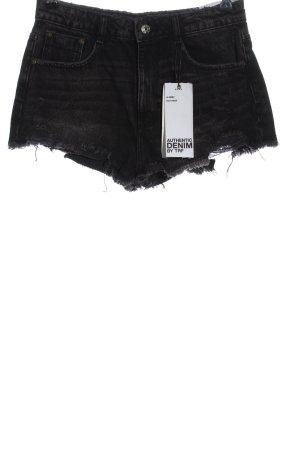 Zara Jeansowe szorty czarny W stylu casual