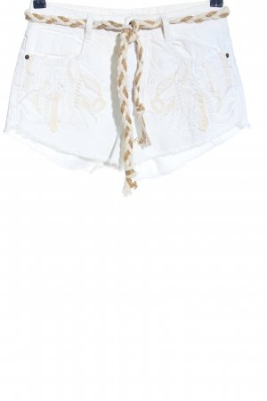 Zara Jeansshorts weiß-creme Casual-Look