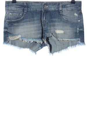 Zara Jeansshorts blau Casual-Look