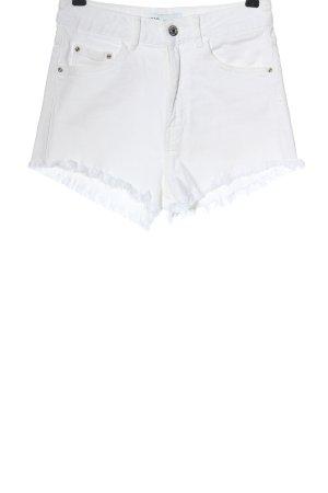 Zara Short en jean blanc style décontracté