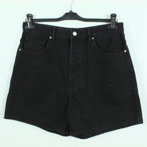 Zara Pantaloncino di jeans nero Cotone