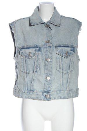 Zara Denim Vest blue casual look