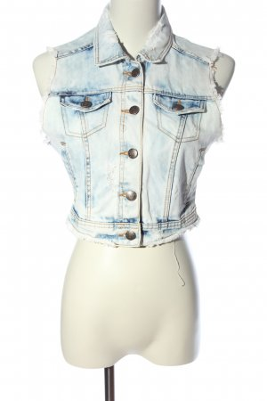 Zara Jeansweste blau Casual-Look