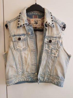 Zara Basic Denim Vest multicolored