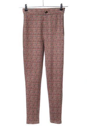 Zara Jeggingsy czerwony-jasnoszary Na całej powierzchni W stylu casual