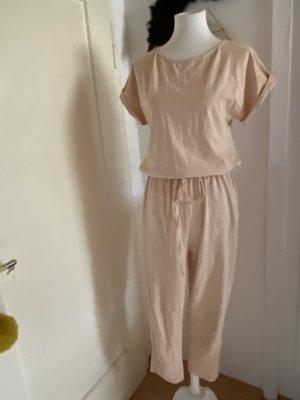 Zara Jersey Jumpsuit in beige rose Gr. S 36
