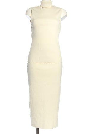 Zara Jersey Twin Set wollweiß Business-Look
