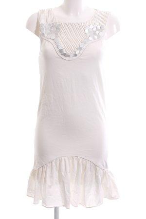Zara Jerseykleid weiß Casual-Look