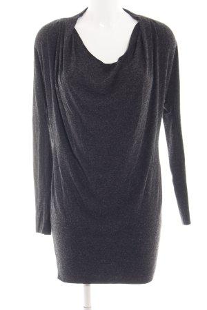Zara Jerseykleid schwarz meliert Casual-Look