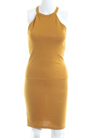 Zara Jerseykleid dunkelgelb