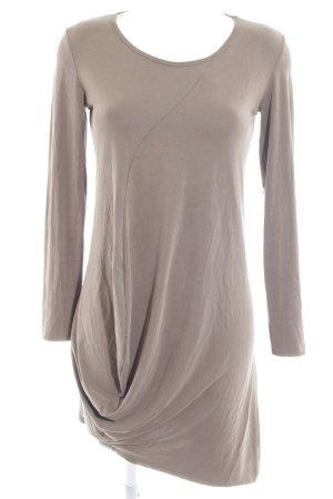 Zara Jerseykleid grau-grüngrau schlichter Stil