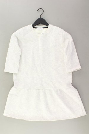Zara Jerseykleid Größe M 3/4 Ärmel grau aus Polyester