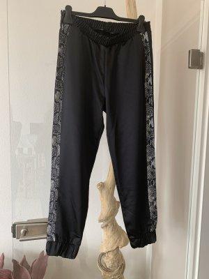 Zara .. Jogg-Pants .. Satin .. Gr. Onesize .. schwarz/animal # Zara # Neu
