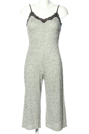 Zara Jumpsuit weiß-schwarz Casual-Look
