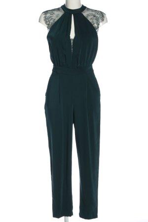 Zara Jumpsuit grün Business-Look