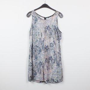 Zara Jumpsuit Gr. L hellblau/lila gemustert (19/02/076)