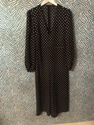 Zara jumpsuit overall XS s schwarz weiß Polka Dots