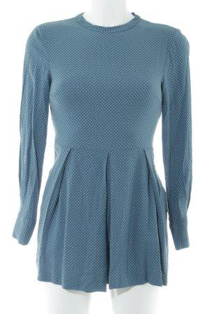 Zara Jumpsuit petrol abstraktes Muster Casual-Look