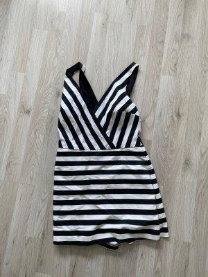 Zara Jumpsuit schwarz weiß gestreift M Sommer