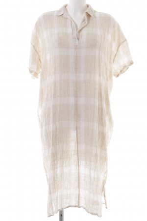 Zara Caftan natural white-cream striped pattern casual look