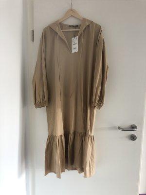 Zara Hooded Dress camel