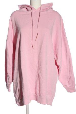 Zara Vestido con capucha rosa look casual