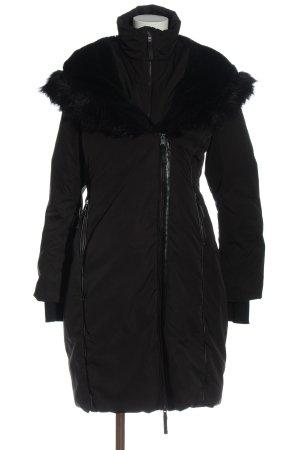 Zara Manteau à capuche noir style décontracté