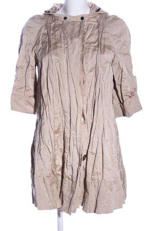 Zara Cappotto con cappuccio crema stile casual