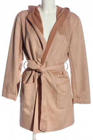 Zara Abrigo con capucha nude look casual