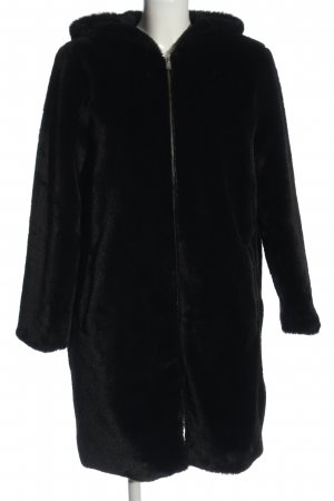 Zara Hooded Coat black casual look